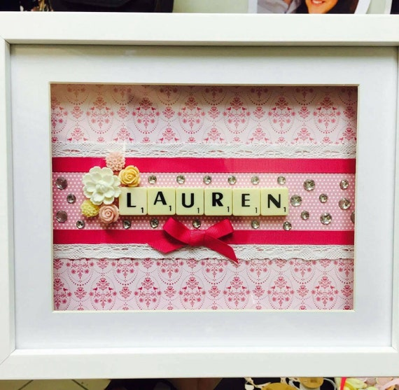 Bridesmaids name frame, perfect thank you gift!