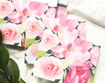 Floral blank cards-10 pack