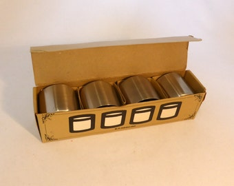 Vintage set of 4 Stainless Steel egg cups (boxed)