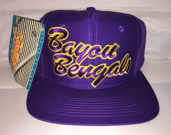 Vintage LSU Tigers Louisiana State University Bayou Bengals Snapback hat cap rare 90s deadstock ncaa college football