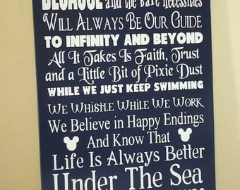 """In This House We Do... 12"""" by 24"""" Wooden Wall Decor"""