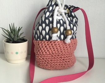 Bag backpack in cotton