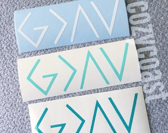 God is Greater than the Highs and Lows, Ups and Downs Decal, Car Decal, Window Decal, Water bottle Decal, Laptop Decal