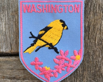 Washington State Vintage Souvenir Travel Patch from Voyager