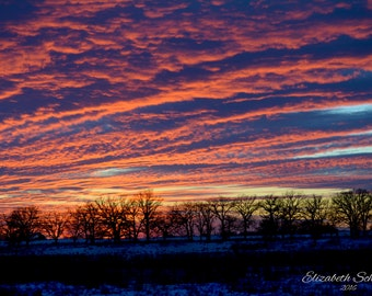 New Years Sunset-country, sunset, landscape photography