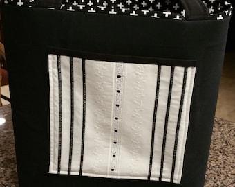 Tote bag-  tuxedo black and white