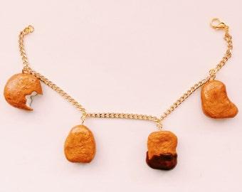 Chicken Nugget Charm Bracelet