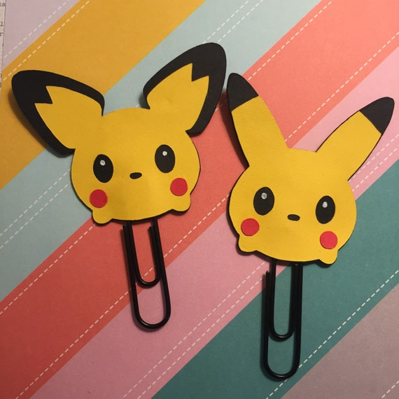 Pikachu and Pichu from Pokemon - Planner Clip, Page Clip, Bookmark, Paper Clips, Planner Accessories, School Supply