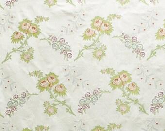 SCALAMANDRE SHABBY ROSE Italian Silk Lampas Damask Fabric 5 Yards Special