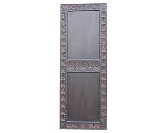 Lotus Carved Door, Wood Carved Door, Mahogany Door, Indian Door, Vintage Carved Door, Bohemian Door, Wooden door, Moroccan door, Carved door