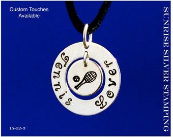 Tennis Necklace Sterling Silver Tennis Racket Pendant Tennis Racquet Jewelry Tennis Ball Sports Lover Tennis Gift Sport Jewelry
