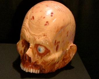 Bloody Chopped off Zombie Corpse Skull Head prop walking dead halloween haunt