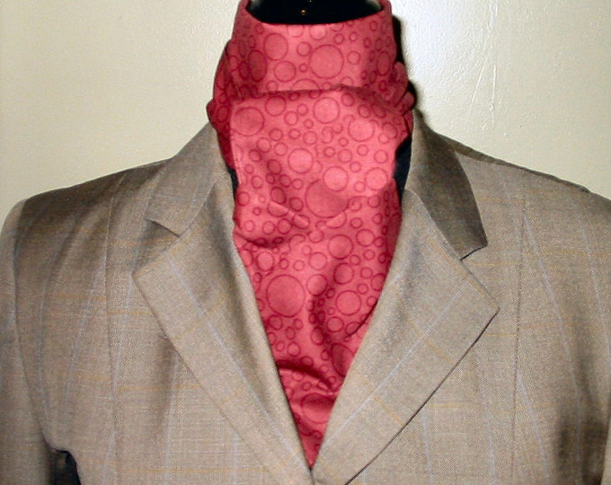 Deep Maroon Circle Stock Tie