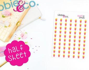 Libbie's Littles Popcorn Life Planner Die-Cut Stickers! Perfect for Erin Condren, Happy, Mambi, ...