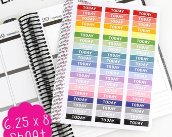 LS37 Pale Palette Today MDN Headers!  Set of 60 vinyl header planner stickers, To Do list, Urgent, Erin Condren, Plum Paper, Happy, Mambi