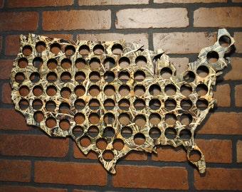 Washington Beer Cap Display Home Bar