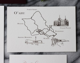 Custom Map Design for Wedding Invitations