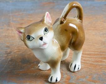 Vintage Ceramic Cat Figurine, Made in Japan