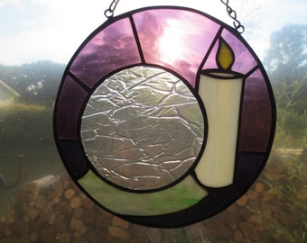 Crystal Ball Wicca Pagan Witchy Stained Glass Suncatcher