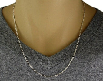 "925 Sterling Silver Figaro Chain Necklace - 050 Gauge 2 mm - 20""/22""/24"""
