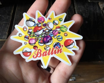 Pokemon Ballin Vinyl Sticker