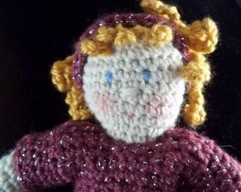 HOLIDAY 2017 SALE!! Ginny Doll - Dress Me Up Doll - Golden - Hair-Raspberry Metallic Dress