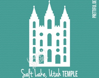 Salt Lake Temple LDS Mormon Clip Art png eps svg Vector