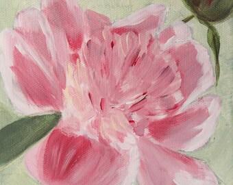 Original Acrylic Painting Spring Flowers Set of 4  6x6