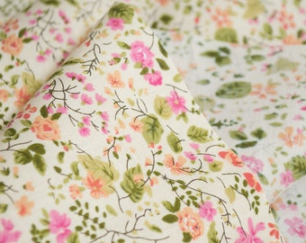 SMALL FLOWERS FABRIC,cotton fabric,roses fabric,liberty style,floral fabric,flowers,extra wide fabric,fabric by half yard,yard,euro fabric