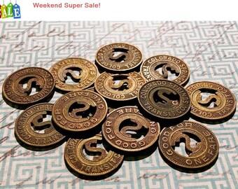 Weekend Super Sale! Vintage Transit Token Colorado Springs Transit CO. Bronze 16mm Lot of 3