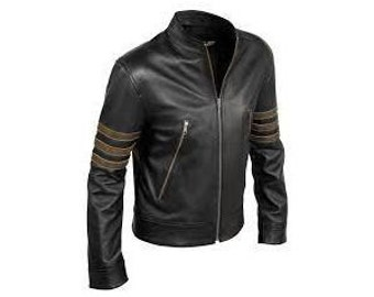 Handmade X-men Volverine Leather Jackets, Xmen Jacket