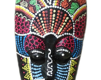 Hand Painted Wooden Mask - Small