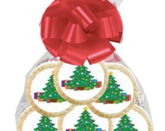12pack Christmas Tree Decorated Sugar Cookies
