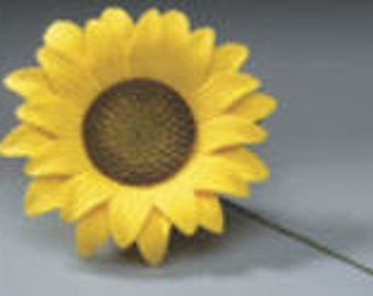 Sunflower Pre-Made Ready To Use Cake / Cupcake Gum Paste Decorations