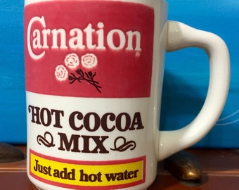 Vintage Carnation Coffee Mug Cup Hot Cocoa Mix 4 inch