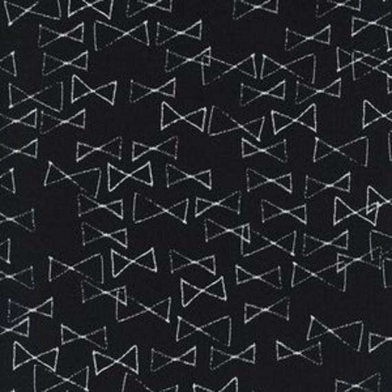 Crib Sheet >> Black and White Bowties in Black >> MADE-to-ORDER black baby bedding, bow toddler sheet set, bassinet sheet, mini crib sheet