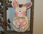 Bunny Decoration - Easter Decoration - Spring Decoration - Bowl Filler - Bunny Tuck
