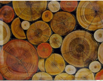 Melamine tray 38x27cm    Logs