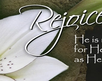Rejoice . . . He is Risen / Yard Banner (G811-1)