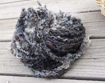 Handspun Lockspun Tailspun Yarn - Leicester Longwool Lamb Fleece - Natural, Organic, Small Farm Sourced