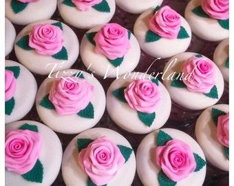 Jar/favor pink decorated with corn dough