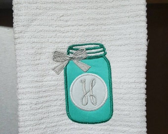 Mason Jar Kitchen Towel