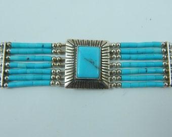 Liquid Sterling Silver Turquoise  Bracelet