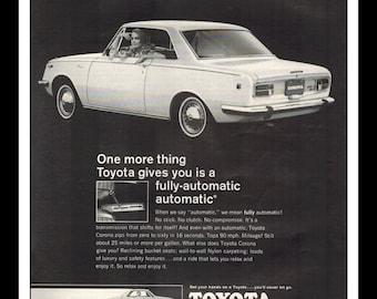 "Vintage Print Ad November 1968 : Toyota Corona Cars Automobile Wall Art Decor 8.5"" x 11"" Advertisement"