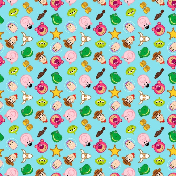 Springs creative toy story emoji fabric by the yard from craftchameleondesign on etsy studio for Emoji material by the yard