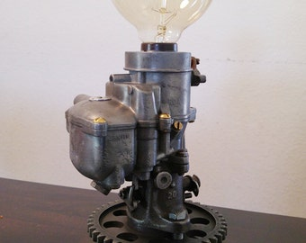 Carburetor Lamp Steampunk, Dieselpunk, Machine Age