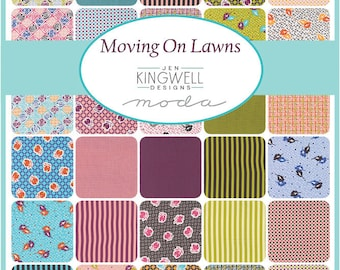 "10"" Moda Jen Kingwell Moving On Lawns Layer Cake 42 Squares"