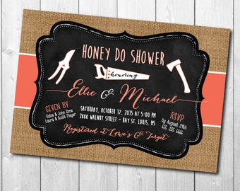 HONEY DO Shower Invitation/Couples Honey Do, printable, handyman, tool party, tool shower, tool and gadget, grill and gadget/Digital File