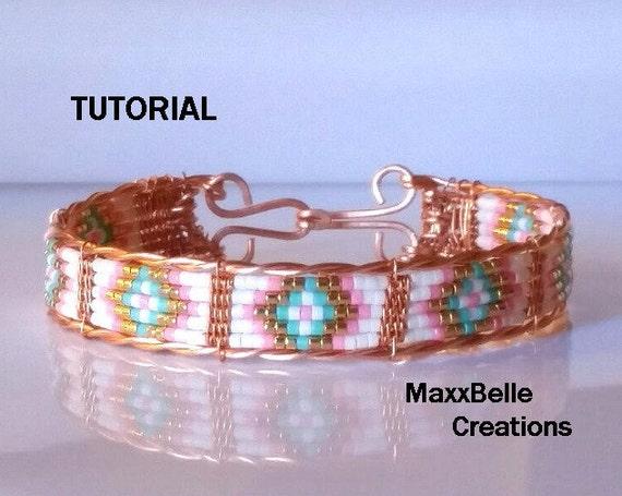 Tutorial Mosaic Wire Weave Beaded Bracelet