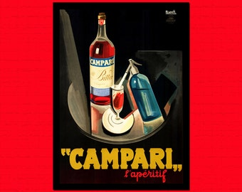 Campari Print 1926 - Food Poster Kitchen Wall Decor Campari Poster Kitchen Kitchen Decor Food Prints Gift Idea  t